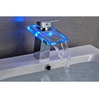 Buy cheap Contemporary 3 Color Change Bathroom Basin Faucets For Hotel Use , CE Certified product