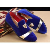 23fd9e940d24b Men'S Velvet Loafer Shoes With Personality Tiger Head Gold Buckle Red  Bottom Images