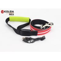 Buy cheap Large Adjustable Safety Rechargeable LED Dog Leash And Collar Set 120cm product