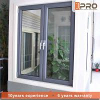 Buy cheap Vertical Opening Pattern Aluminum Casement Windows With Security System product
