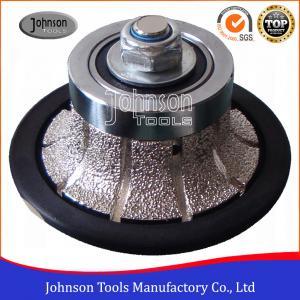 Buy cheap No.2 Half Bullnose Vacuum Brazed Diamond Tools For Edging Stone  product