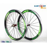 China 50mm Clincher Bicycle Aluminum Road Bike Wheels With Mrcarbon Logo on sale