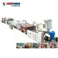 Buy cheap PP PE Plastic Corrugated Hollow Sheet Making Machine , Plastic Sheet Extrusion Line product
