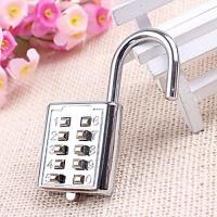 Buy cheap Mini Push Button Code Resettable Combination Padlock 10 Pin Sports Locker product