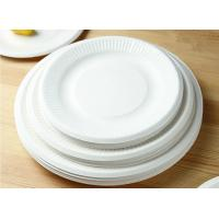 Buy cheap Round Bulk Dinner Disposable Paper Plates , Disposable Paper Dish For Party product