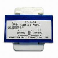 Buy cheap Power Transformer with Pins, 220V AC/50Hz Input Voltage, 10W Maximum Output Power product