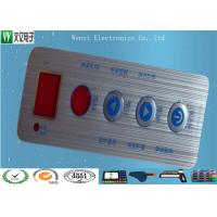 Buy cheap Waterproof Membrane Switch Touch Panel Overlay Red Window Silver Contact Pad product