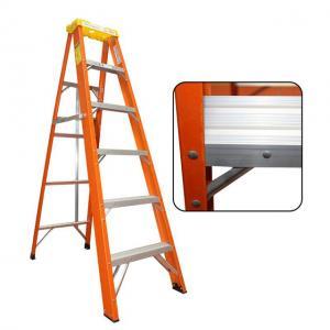 Buy cheap En131 Fiberglass A Frame Ladder , Aluminium Fiberglass Folding Ladder product