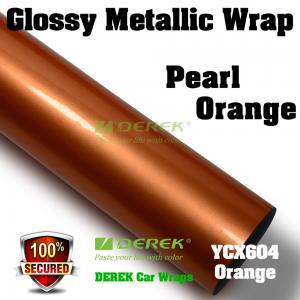 Buy cheap Glossy Metallic Car Wrapping Film - Glossy Metallic Orange product