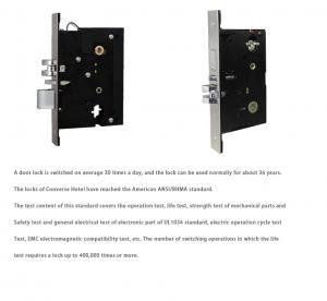 Quality Waterproof Mifare Card Door Lock Aluminium CNC Hotel Card Reader Durable for sale