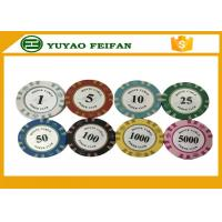 Buy cheap 13.5 Gram Crown Monte Carlo Casino Poker Chips With Pantone Color 40x3.3mm product