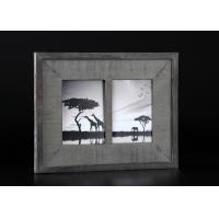 Buy cheap 2 - Openings 5x7 Wooden Matted Wall Hanging Photo Frames In Antique Dark Gray Finishing product