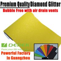 Buy cheap Brilliant Diamond Sanding Glitter Vinyl -- Sparkle Wrap Lemon Yellow product