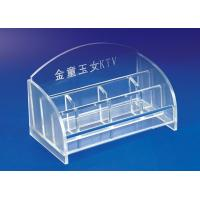 Buy cheap 5mm Clear Simple Acrylic Stationery Holder For Office With Notes Box product