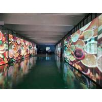 Buy cheap P15.6 Lecede Transparent Glass LED Display High Definition Resolution 14 Bit Gray Level product
