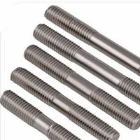 Buy cheap 3/8 White Zinc Plated DIN976 Double End Threaded Rod Preventing Corrosion Convenient Use product