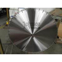 Buy cheap Narrow U Slot 600mm Laser Diamond Saw Blade for Coral Rock / Concrete Cutting product