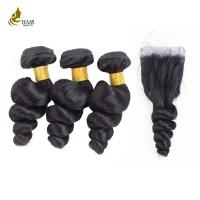 Buy cheap 8A 1B 8 - 32inch Free Tangle Real Malaysian Virgin Hair Extensions Soft and Smooth No Mixture product