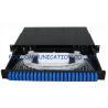 Buy cheap Sliding Type Rack Mount Fiber Optic Patch Panel SC 24Port for Fiber network installation product
