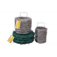 Buy cheap Wine Use Continuous Twist Barbed Wire Fence 2.0mm x 1.8mm 15cm , ISO product