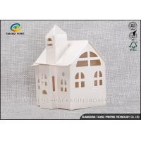 Buy cheap Candy / Cookie Folding Gift Boxes Special House Shaped Strictly Quality Control product