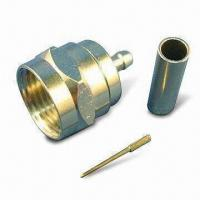 Buy cheap RF Coaxial F Connector Plug Crimp for RG179 Cable, with 75Ω Impedance product