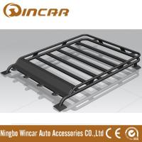 Buy cheap 4x4 Roof Top Black Steel Luggage Rack With Light Brackets 130*105cm Size product