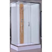 Buy cheap 1200x800x2150mm Luxury Corner Shower Stalls , Rectangular  Shower Cabin with bamboo product