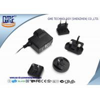 Buy cheap Interchangeable 5V 1A AC DC Power Adapter CE CB GS UL FCC PSE ROHS RCM product