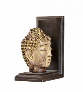 Feng Shui Buddha Head Gold Arrow Bookends , 2 Set Resin Kids Room Bookends