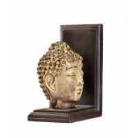 Quality Feng Shui Buddha Head Gold Arrow Bookends , 2 Set Resin Kids Room Bookends for sale