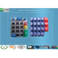 Buy cheap Custom Silicone Rubber Keypads For 3C Items 60 Degree Silkscreen Print High Gloss product