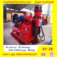 Quality China Deutz Engine High Quality Thailand  Popular XY-2B Skid Mounted Spindle Type Geotechnical Core Drilling Rig In Iran for sale