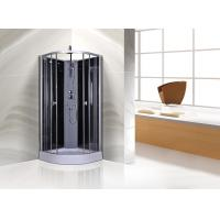 Buy cheap Circle Grey Quadrant Shower Cubicles 900 X 900 X 2250 MM ABS Tray Chrome Profiles product