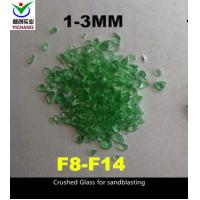 Buy cheap 6.0 Moh Hardness Recycled Crushed Glass Low Cost Expendable Blast Cleaning Media product