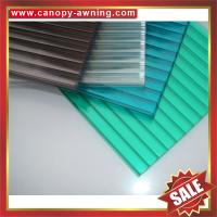 China high qualtity greenhouse roofing polycarbonate PC multiwall twin wall cell hollow board sheet sheeting plate panel on sale