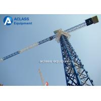 Buy cheap 5 Ton Climbing Flattop Tower Crane QTP50 5010 Hydraulic Cylinder Lifting Hook product