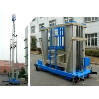 Buy cheap 136kg Load Vertical Mast Lift 18 M Aluminum Alloy Hydraulic Aerial Work Platform product