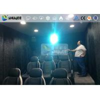 Buy cheap 9 Persons 7D Movie Theater With Special Effect System , Thrilling Drastic Movement Of Chair product