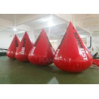 Buy cheap Red Color Inflatable Water Buoy 0.6 Mm PVC Tarpaulin Material Logo Printing product