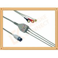 Buy cheap Generic AAMI ECG Patient Cable 6 Pin 5 Leads PVC Insulation Solid Conductor product