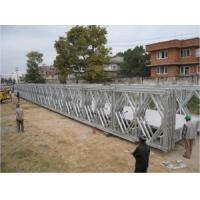 Buy cheap Pins Connect Temporary Construction Bridge , Galvanized Steel Bridge For Prefabricated product