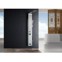 Buy cheap 5 Function Waterfall Spout Wall Mount Shower Panel ROVATE Light Grey Color product