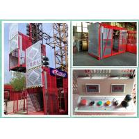 Quality Temporary Double Cage Building Hoist 34m/Min , Industrial Elevator Lift for sale
