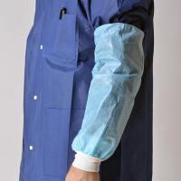 Buy cheap Blue Nonwoven Disposable Sleeve Covers Arm ProtectorsOil Proof With Knitted Cuff product