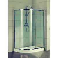 Buy cheap Compact D Shaped Quadrant Shower Enclosures 4 Ft Small Corner Shower Stalls product