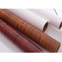 Buy cheap Red Textured Wood Grain Wallpaper Waterproof Wood Grain Self Adhesive Vinyl from wholesalers