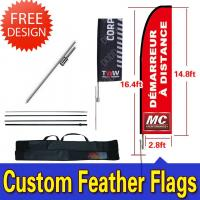 Buy cheap Windchaser Feather Flags Banner with fiberglass pole , cross base and carry bag product