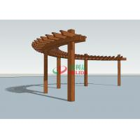 Buy cheap Durable Arched Pergola Kits 14.3m X 1.5m  ,  High Density Composite Wood Pergola product