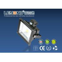 Quality 50w PIR Super Bright Outdoor Led Flood Lights Waterproof Led Floodlighting for sale
